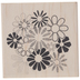 Happy Flowers Rubber Stamp