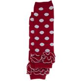 Red & White Polka Dot Leg Warmers