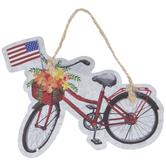 Red Bike American Flag Ornament