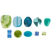 Blue & Green Acrylic Bead Mix