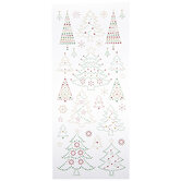 Glitter Traditional Christmas Tree Stickers