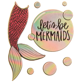 Let's Be Mermaids Puffy Stickers