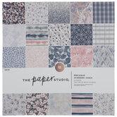 """Blue & Pink Floral Foil Paper Pack - 12"""" x 12"""""""