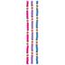 Pink, Blue & Purple Clay Flower Bead Strands
