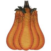 Light Orange Pumpkin Metal Decor