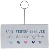 Best Friends Forever Wood Photo Clip