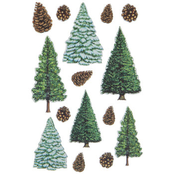 Pine Trees 3D Stickers