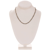 """Plated Hematite Entwined Chain Necklace - 16"""""""