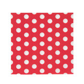 Red & White Polka Dot Napkins - Small