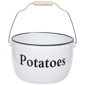 White Potatoes Pot With Handle