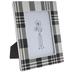 White & Black Plaid Frame - 5