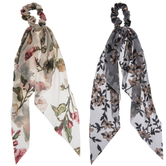Floral Sheer Ribbon Scrunchies