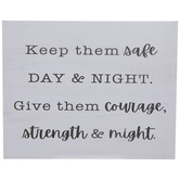 Courage, Strength & Might Wood Decor