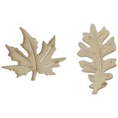 Leaf Wood Shapes
