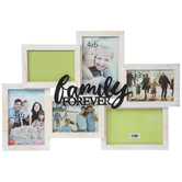 Family Forever Collage Wood Wall Frame