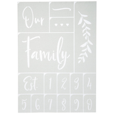 Our Family Adhesive Stencils