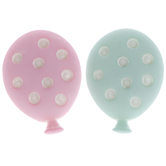 Pink & Teal Polka Dot Balloon Shank Buttons
