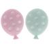 Pink & Teal Polka Dot Balloon Shank Buttons