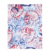 "Red, White & Blue Tie-Dye Scrapbook Paper - 8 1/2"" x 11"""