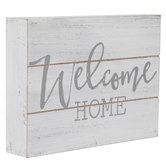 Welcome Home Wood Decor