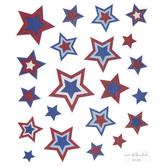 July 4th Stars Glitter Stickers