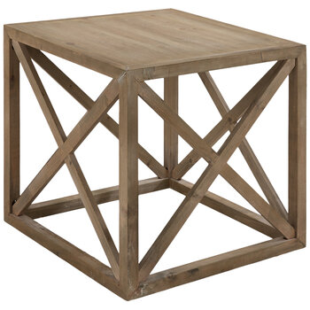 Crisscross Wood Table
