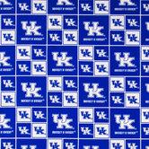 Kentucky Block Collegiate Cotton Fabric