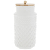 White Diamond Embossed Canister - Large