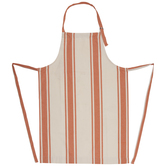 Orange & Cream Striped Apron