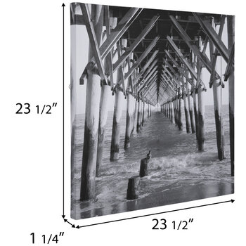 Under The Pier Canvas Wall Decor