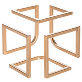 Gold Metal Cube Decor