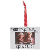 Grandkids Frame Ornament