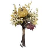 Cream Sunflower, Pumpkin & Berry Bouquet