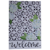 Welcome Geometric Floral Garden Flag