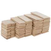 Rectangle Wood Shapes