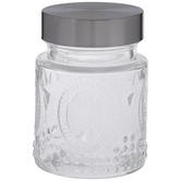 Fleur De Lis Glass Jar