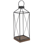 Black Wire Metal Lantern