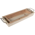 Rectangle Wood Tray With Handles Set