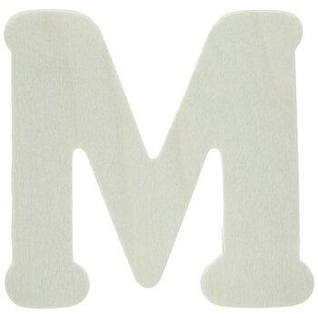 "Wood Letters M - 4"""