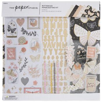 Metallic Butterflies Papercrafting Kit