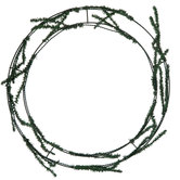 Green Pine Work Wreath - 16""