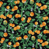 Orange Blossom Sateen Cotton Fabric