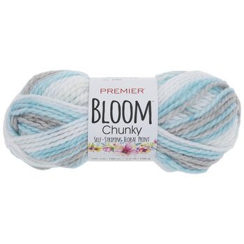 Premier Bloom Chunky Self-Striping Floral Print Yarn