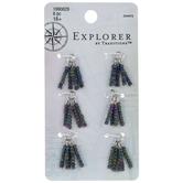 Green & Purple Seed Bead Tassel Charms