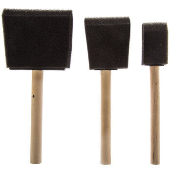 Foam Brushes - 6 Piece Set