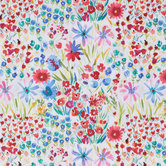 Watercolor Wildflowers Apparel Fabric
