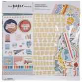 "Vintage Varsity Scrapbook Kit - 12"" x 12"""