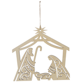 Nativity Hanging Wood Shape