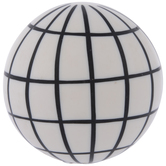 White & Black Grid Decorative Sphere