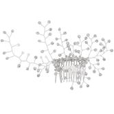 Silver Rhinestone Wire Branch Hair Comb